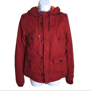 Aritzia TNA Red Platoon Jacket Size M